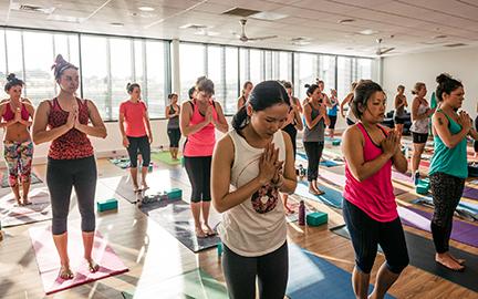 om yoga studio  class
