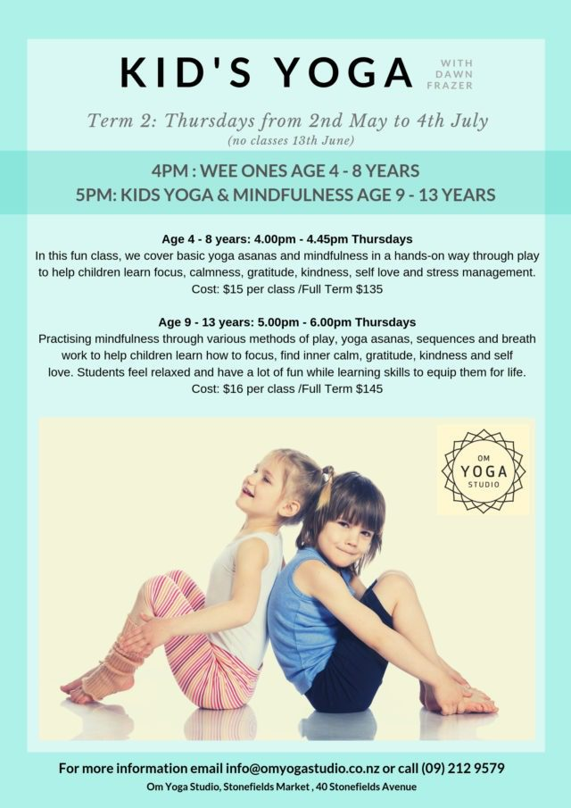Term 2 Wee Ones Yoga (Ages 4-8 years)