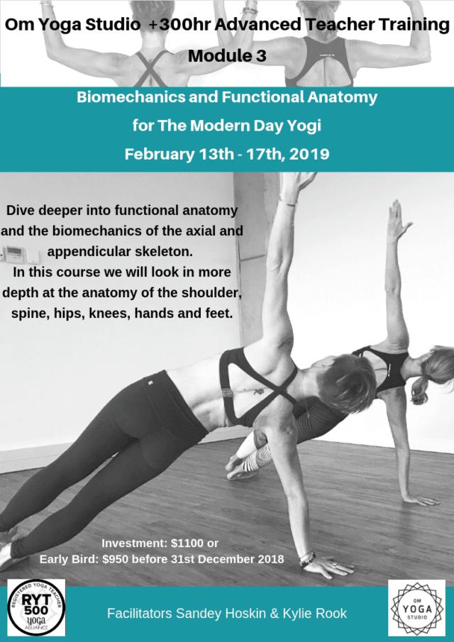 300 Hour TT Module 3 – Biomechanics and Functional Anatomy for The Modern Day Yogi