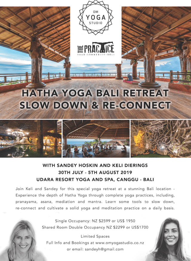 Hatha Yoga Bali Retreat – Slow Down & Re-Connect