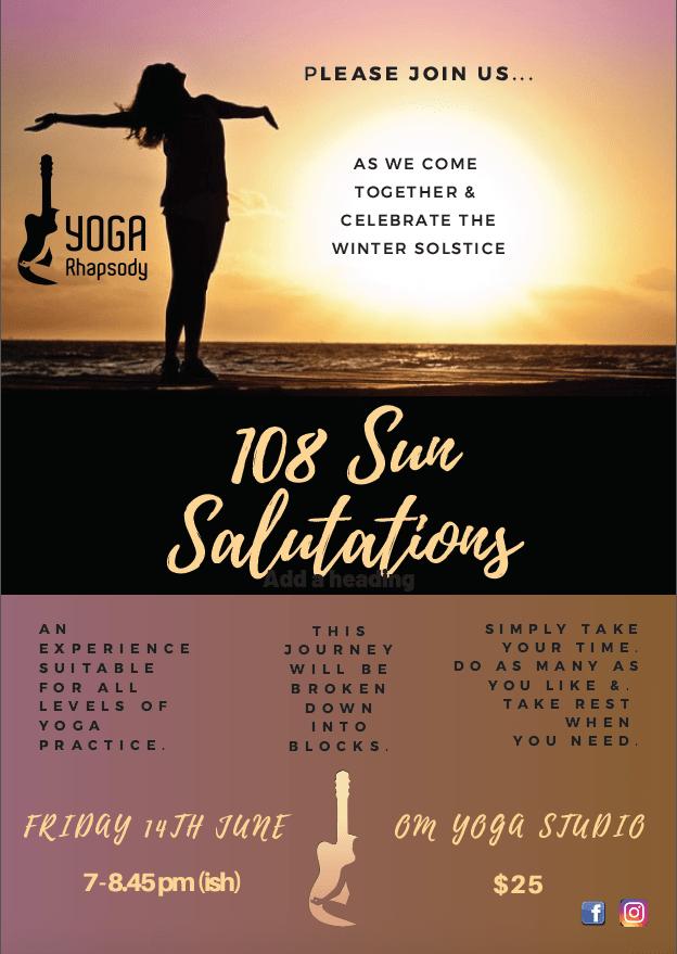 Yoga Raphsody – 108 Sun Salutations